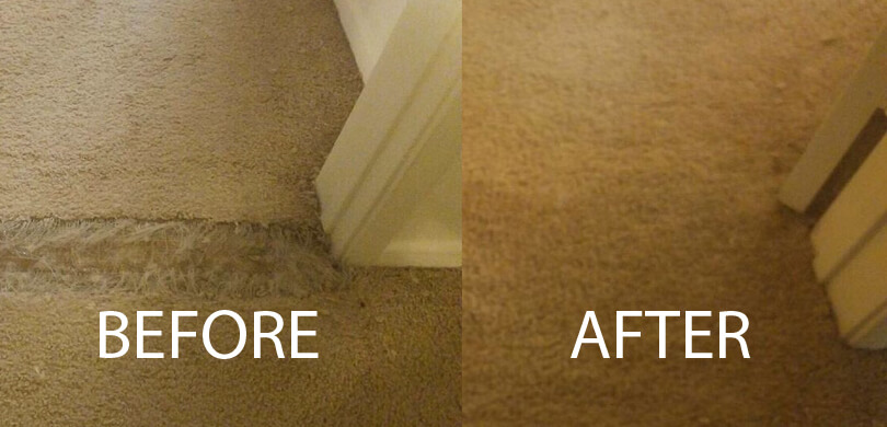 Carpet patching and stretching repairs